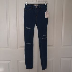 Free People Distressed Long Jeans size 26